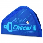 CHECAI Triangle Oxford + Sponge Car Safety Belt Fixing Shoulder Pad for Kids - Blue