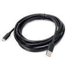 KS-U35 Micro USB 5-pin to USB Charging & Data Transmission Cable for Samsung / HTC - Black (297cm)