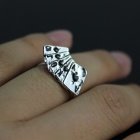 Novelty Zinc Alloy Poker Ring (7.5 US Size)