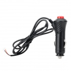 Motorcycle 12V Power Car Cigarette Lighter Switch - Black (90cm)