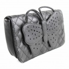 Black Butterfly PU Leather Hand Bag