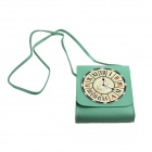 Fashionable Clock Style Small Satchel / Haversack - Green