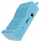 Fashionable Mobile Phone Style MP3 Player w/ TF Slot - Light Blue
