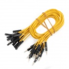GDW AZ2 Male to Female DuPont Breadboard Jumper Wires for Arduino - Yellow (40-Piece / 31cm)