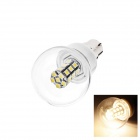 B22 5W 120lm 3000K 27 x SMD 3528 LED Warm White Energy Saving Light Bulb - White (AC 220~240V)