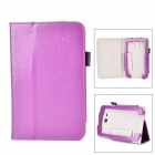 Flip-open PU Leather Case w/ Stand + Pen Holder for Samsung Galaxy Tab 3 Lite T110 / T111 - Purple