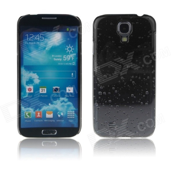 ENKAY Water-Drop Design Hard Case for Samsung Galaxy S4 i9500 - Black