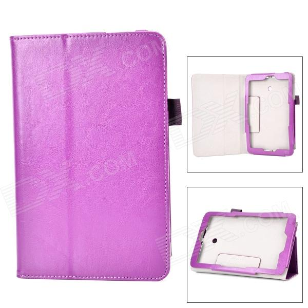Protective Flip-open PU Case w/ Stand + Pen Holder for ASUS VivoTab Note 8 / M80TA - Purple stylish flip open pu case w holder stylus for asus vivotab note 8 m80ta red
