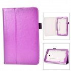 Protective Flip-open PU Case w/ Stand + Pen Holder for ASUS VivoTab Note 8 / M80TA - Purple