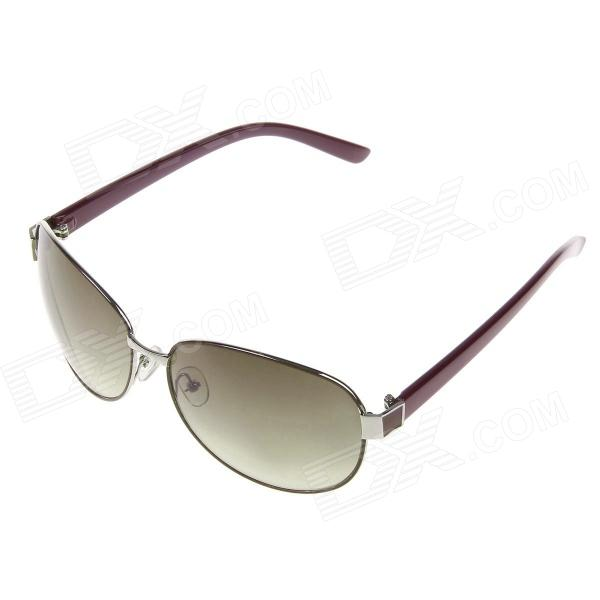 DUWEI Stilig menn Zinc Alloy Frame Resin Lens UV400 Protection Sunglasses-rød brun + brun