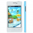 "A66+ Capacitive Touch Screen Android 2.3 Bar Phone w/ 4.0"" / Wi-Fi / Bluetooth - Sky Blue + White"