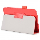 Flip-open PU Leather Case w/ Stand + Pen Holder for Samsung Galaxy Tab 3 Lite T110 / T111 - Red