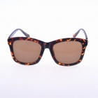 2310 Universal PC Frame PC Lens UV400 Protection Sunglasses - Black Leopard + Tawny