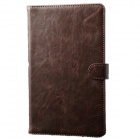 Protective PU Leather Case Stand w/ Auto Sleep Cover for Samsung Galaxy Tab Pro T320 8.4 - Brown
