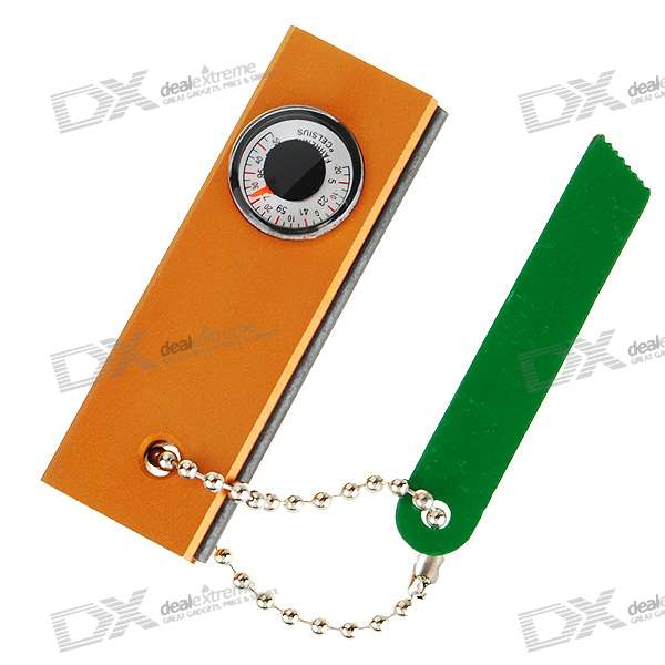 3-in-1 Fire Sparkle Blade Cutter Tool + Compass + Thermometer (Orange)