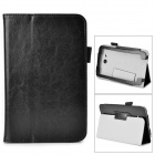 Flip-open PU Leather Case w/ Stand + Pen Holder for Samsung Galaxy Tab 3 Lite T110 / T111 - Black