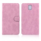 ENKAY Wallet Style Protective PU Leather Case for Samsung Galaxy Note III N9000 - Pink