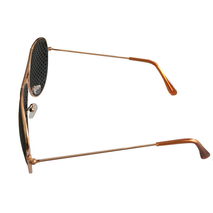 oumily eyesight vision improve plastic frame pinhole glasses eyeglasses rose gold black