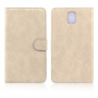 ENKAY Wallet Style Protective PU Leather Case for Samsung Galaxy Note III N9000 - Khaki