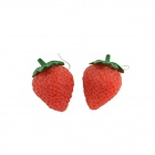 Stylish Strawberry Style Women's Earrings - Red (Pair)