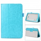 Protective Flip-open PU Case w/ Stand + Pen Holder for ASUS VivoTab Note 8 / M80TA - Light Blue