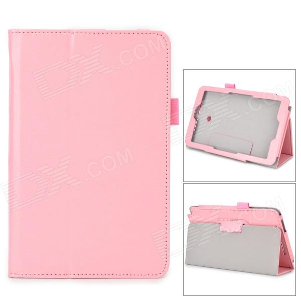 Protective Flip-open PU Case w/ Stand + Pen Holder for ASUS VivoTab Note 8 / M80TA - Pink