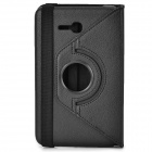 360 Degree Rotary Flip Open PU Case w/ Stand + Stylus for Samsung Galaxy Tab 3 Lite T110 - Black