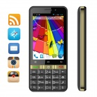 "SIMTELEP N9 MTK6572 Dual Core Andriod 4.2 Phone w/ 3.5"", K9 Keyboard, 1GB RAM, 4GB ROM - Black +Gold"