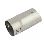 A5X Stylish Iron Car Exhaust Pipe Muffler Tip - Silver