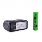 UltraFire ZS-09 18650 3.7V 1800mAh Lithium Rechargeable Battery w/ US Plug Charger - Black