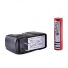 UltraFire ZS-08 18650 3.7V 400mAh Lithium Rechargeable Battery w/ US Plug Charger - Black + Red