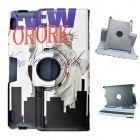 Statue of Liberty Pattern 360' Rotation PU Leather Case Cover Stand for Amazon Kindle Fire HD 8.9""