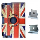 British Flag Pattern 360 Degree Rotation PU Leather Case Cover Stand for Amazon Kindle Fire HD 8.9""