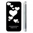 ZH01 Love Heart Pattern LED Flash Light Color Changing Protective ABS Back Case for IPHONE 4 / 4S