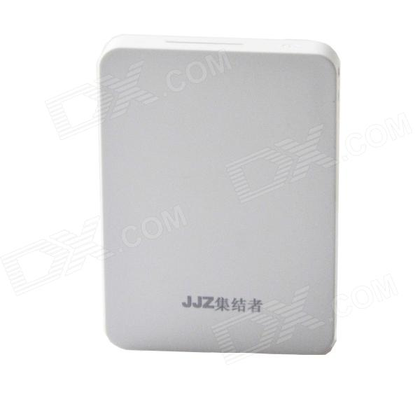 "Universal Dual USB Long Lasting High Capacity ""12000mAh"" Power Bank - White"
