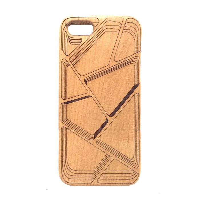 Solid Pattern Detachable Protective Wood Back Case for IPHONE 5 / 5S handmade new solid maple wood brown acoustic violin violino 4 4 electric violin case bow included