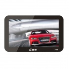 "Edaohang T700 7"" Touch Screen LCD WinCE 6.0 GPS Navigator w/  FM /  8GB - Black"