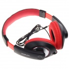VONSOM VS8074 Fashionable Headphones w/ Line Control - Black + Red (3.5mm Plug / 120cm-Cable)