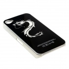 ZH01 Good Luck Dragon Pattern LED Flash Light Color Changing Protective Back Case for IPHONE 4 / 4S