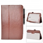 Stylish Flip-open PU Case w/ Holder + Stylus for ASUS VivoTab Note 8 / M80TA - Brown
