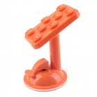 360 Degree Rotation Car Suction Cup Holder Bracket for IPHONE / Samsung / HTC / LG - Orange