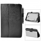 Stylish Flip-open PU Case w/ Holder + Stylus for ASUS VivoTab Note 8 / M80TA - Black