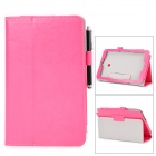 Stylish Flip-open PU Case w/ Holder + Stylus for ASUS VivoTab Note 8 / M80TA - Deep Pink