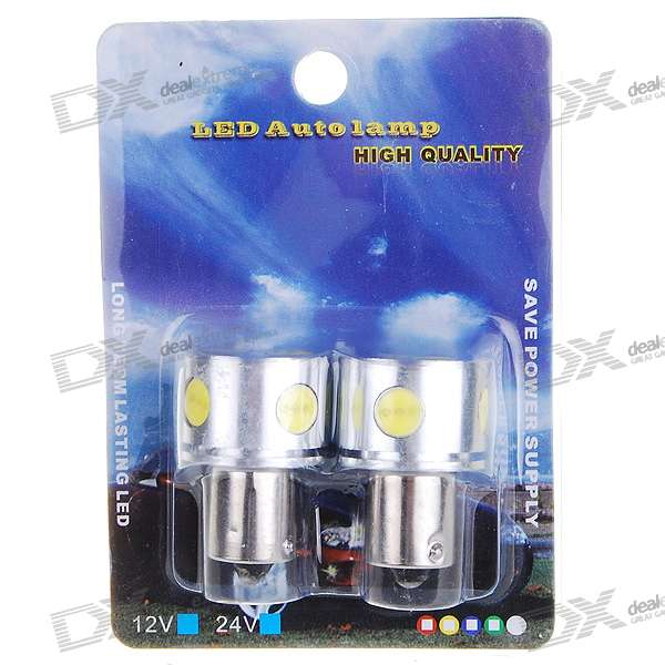 S25 6 x 9518 110-Lumen Car Turning Signal Light Bulb - White Light (2-Pack/DC 12V)