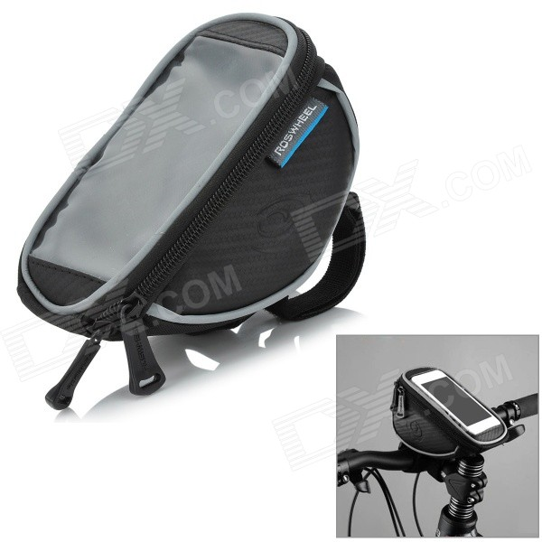 ROSWHEEL 11810S-A Handlebar Mobile Phone Bag w/ Touch Screen Window