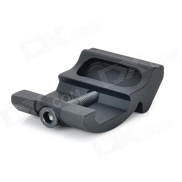 Steel M4 / M16 Gun Mount Holder Clip for Flashlight - Black