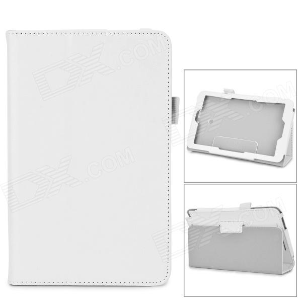 Flip-open PU Case w/ Stand + Pen Holder for ASUS VivoTab Note 8 / M80TA - White