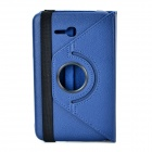 360 Degree Rotary Flip Open PU Case w/ Stand + Stylus for Samsung Galaxy Tab 3 Lite T110 - Blue