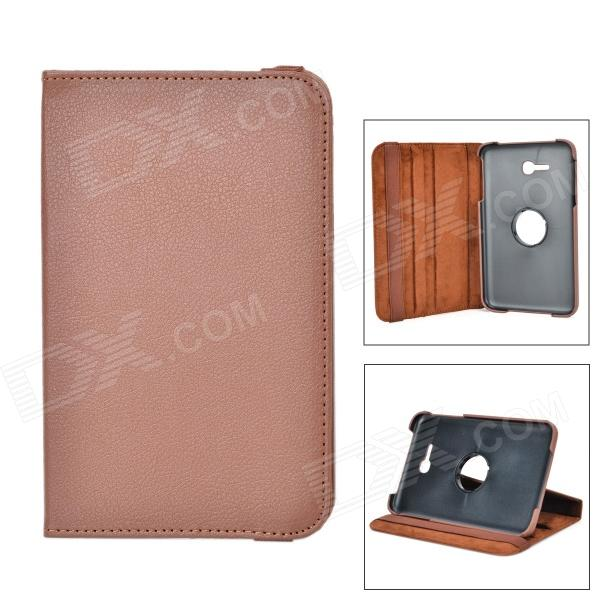 360 Degree Rotation Protective Flip-open PU Leather Case w/ Screen Protector for Samsung T110 protective 360 degree rotation pu leather case for samsung p6220 brown