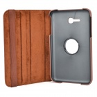 360 Degree Rotation Protective Flip-open PU Leather Case w/ Screen Protector for Samsung T110